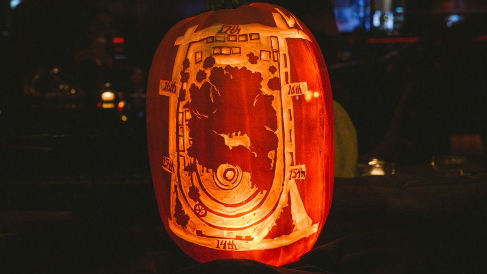 Last year's Union Square Park pumpkin. Photo by W New York - Union Square