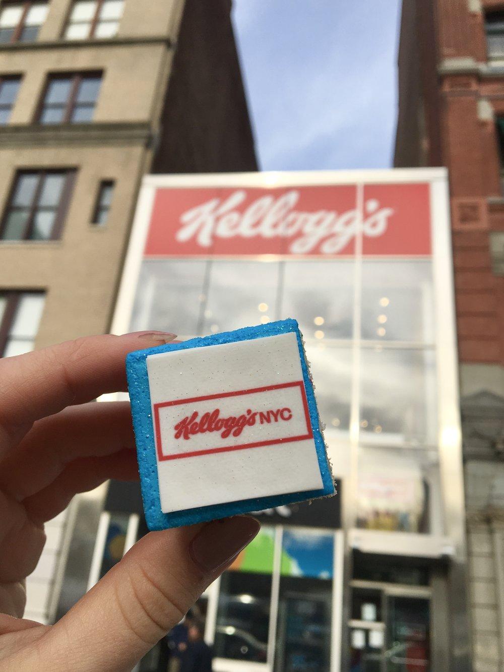 Custom Rice Krispies to welcome @KellogsNYC to the neighborhood!