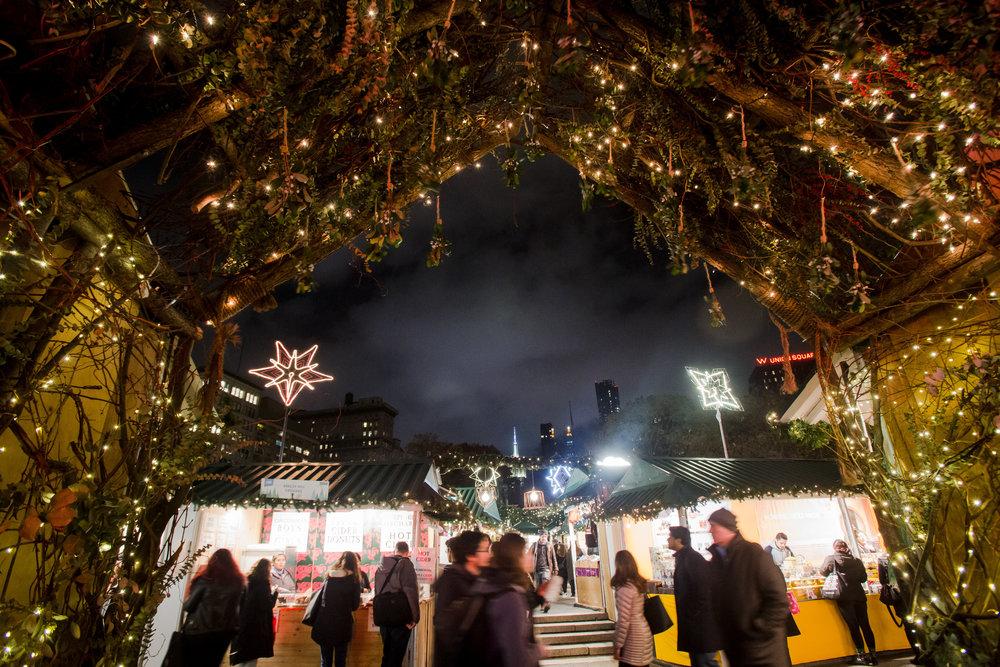 Union Square Holiday Market. Photo by Liz Ligon