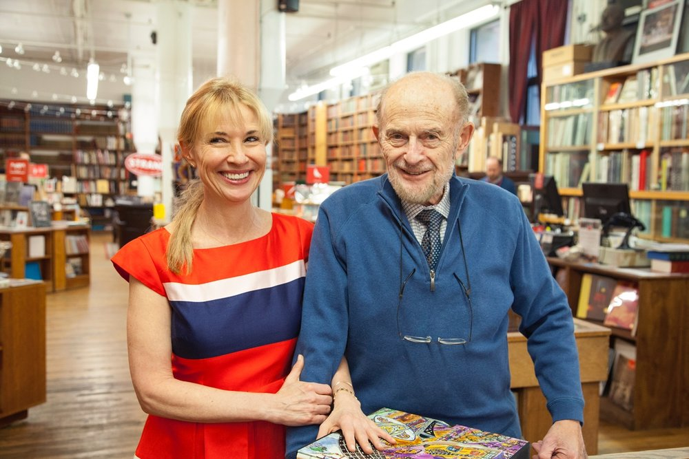 Nancy Bass Wyden and her father, Fred Bass in 2016. Photo courtesy Strand Bookstore