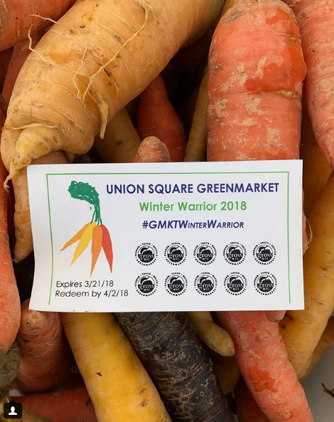 Use your punch card when picking up fresh carrots, beets, squash, and more in-season vegetables this winter.
