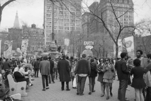 1970 Earth Day rally in Union Square Park