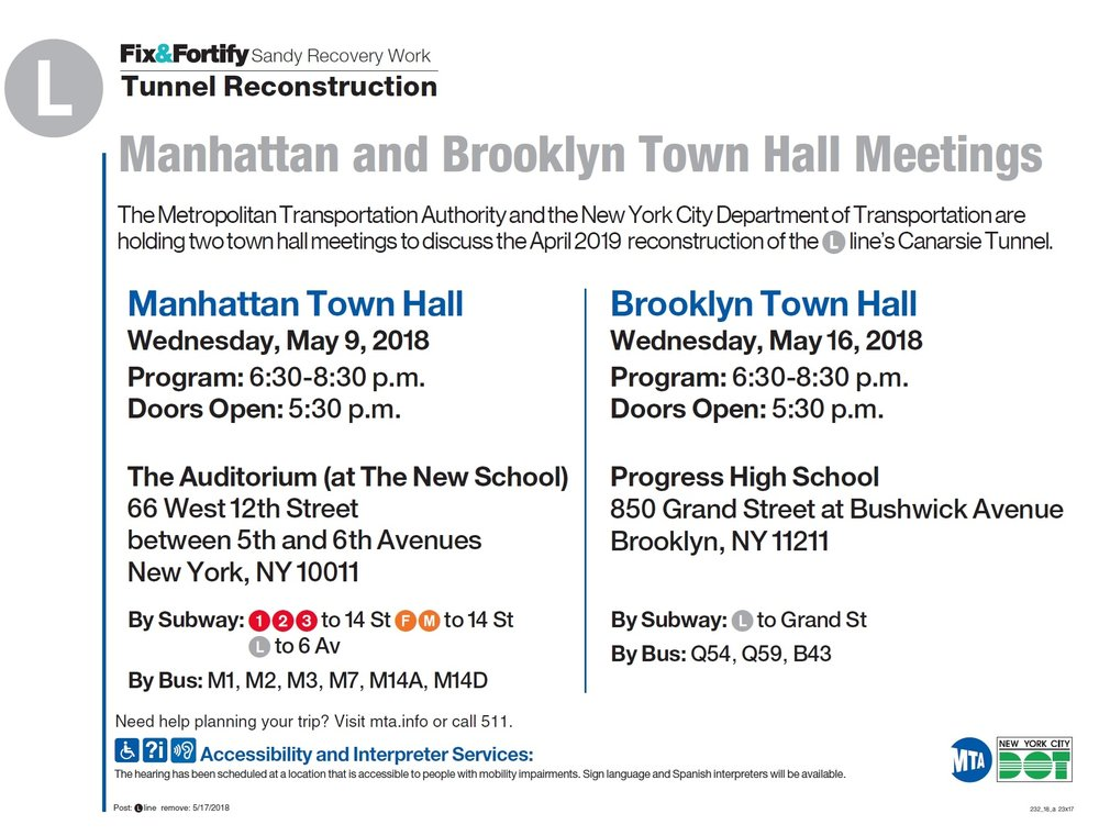 For more information on the town hall meetings, visit MTA's  press release .