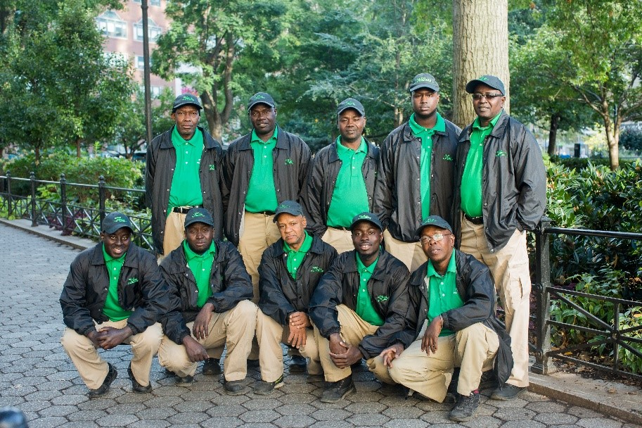 The dedicated Clean Team works every day to keep the streets clean and litter free