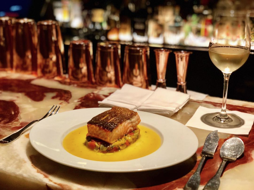 Enjoy French-inspired meals and hand crafted cocktails at Tocquville.