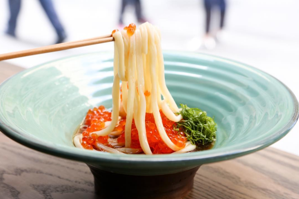 Try classic udon noodle bowls at Tsurutontan.