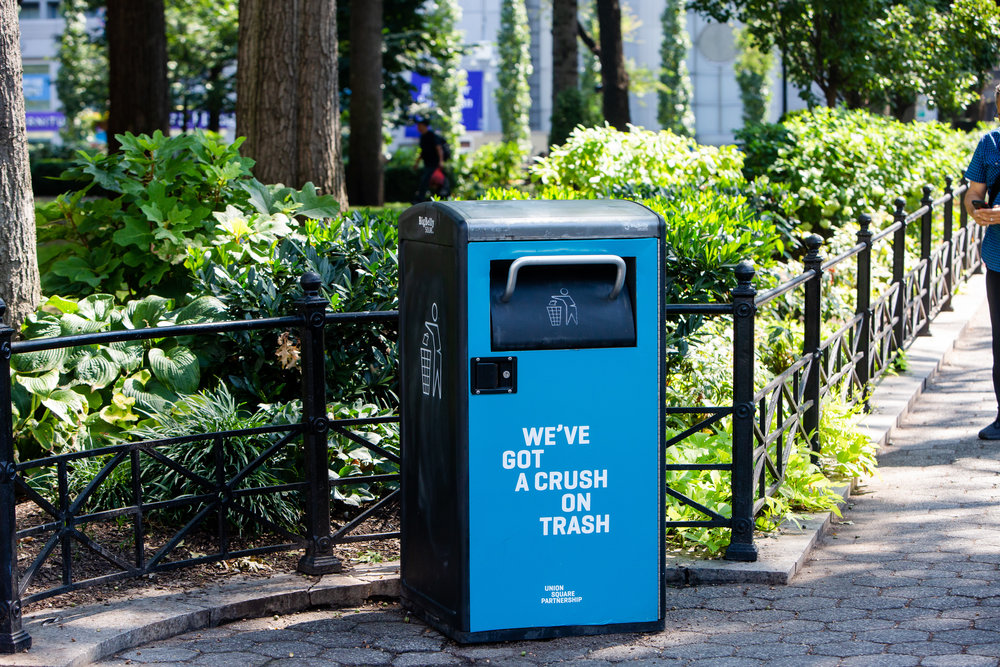 Union Square Park Trash Can photo by Liz Ligon