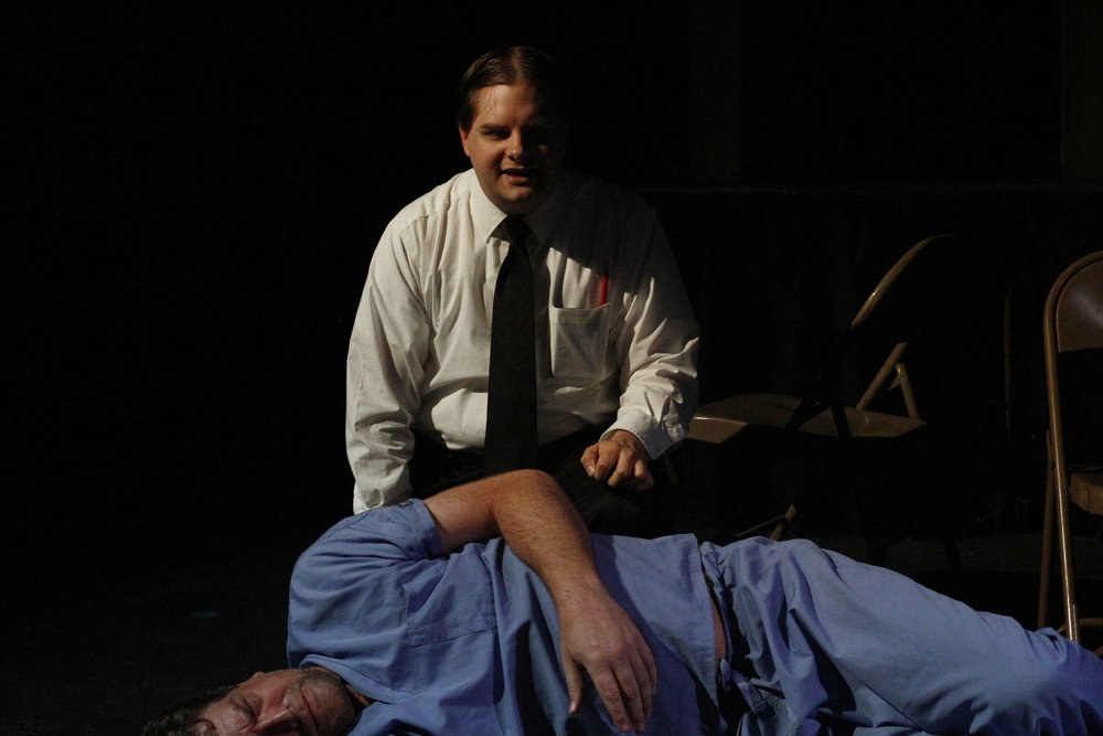 "Justin Tomlinson and Steve Barker in ""Sedatives"" by Quinn Blakely"