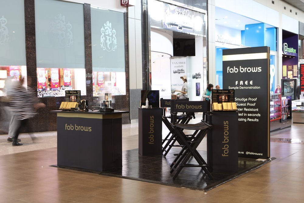 Fab Brows Pop Up Mall Activation