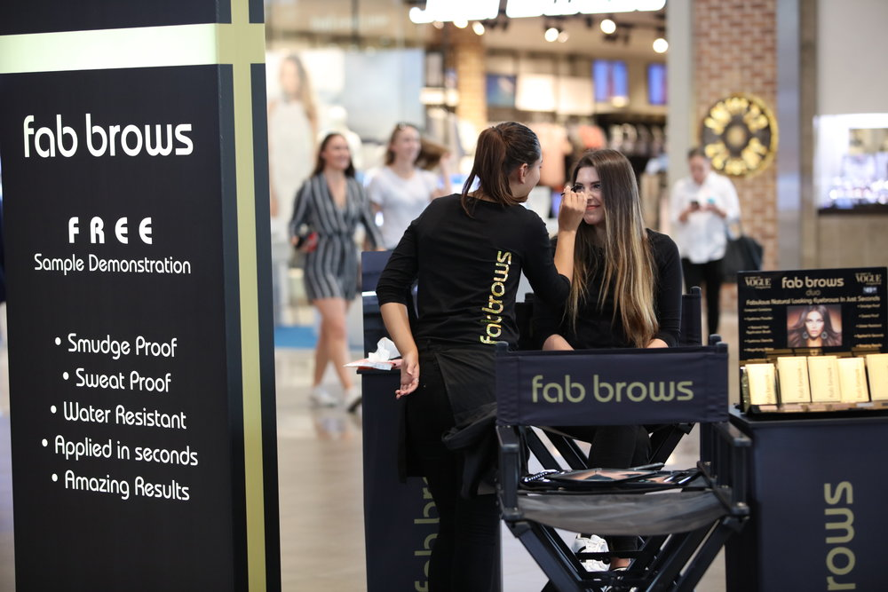 Fab Brows Mall Activation