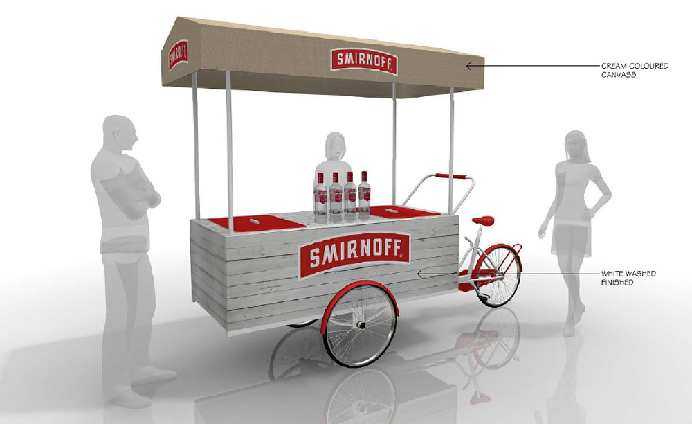Concept Drawing for Smirnoff