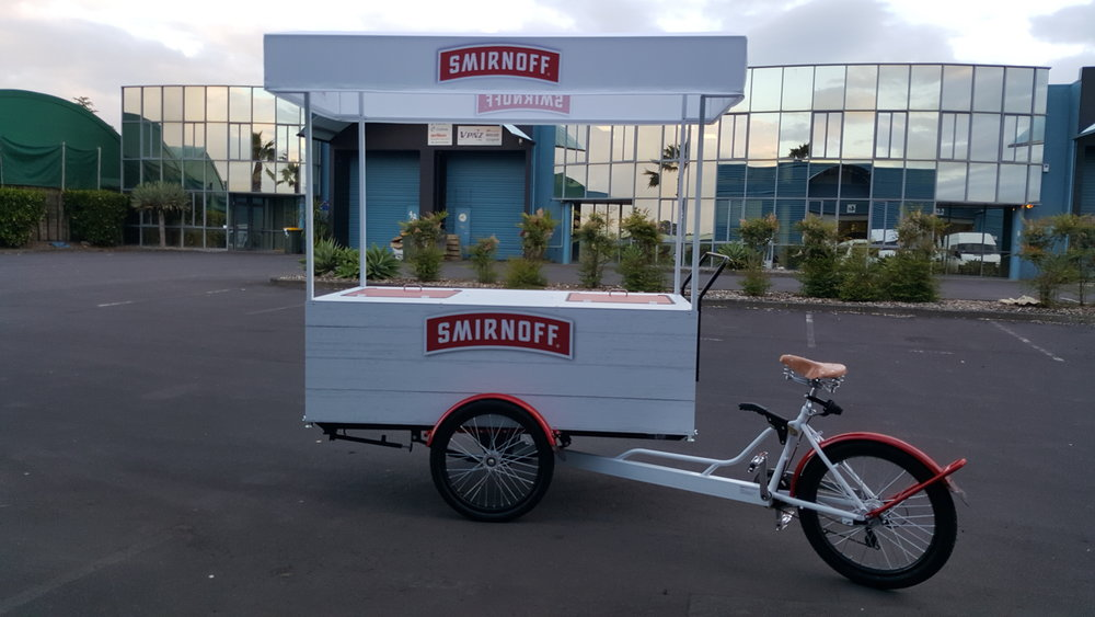 Production of Smirnoff Vendor Bike