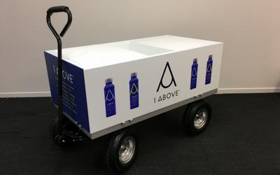 Custom made cooler trolley for sampling