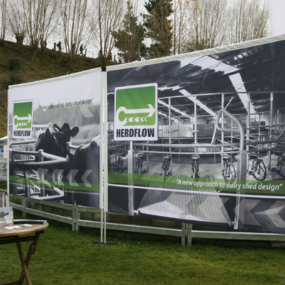 Portable billboard - impactful and easy to set up