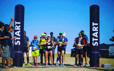 Easy start line inflatable towers