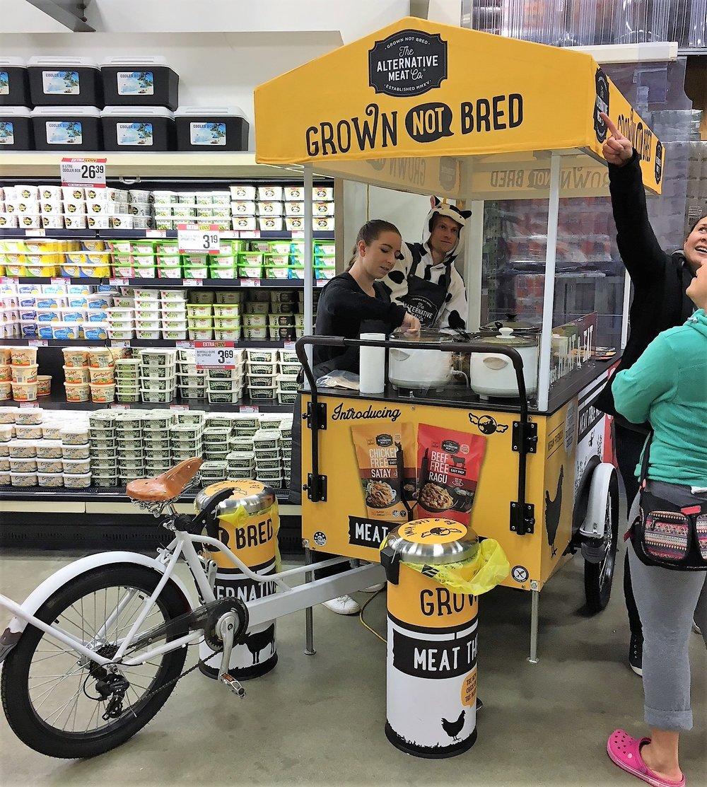 The Alternative Meat Company Sampling Bike