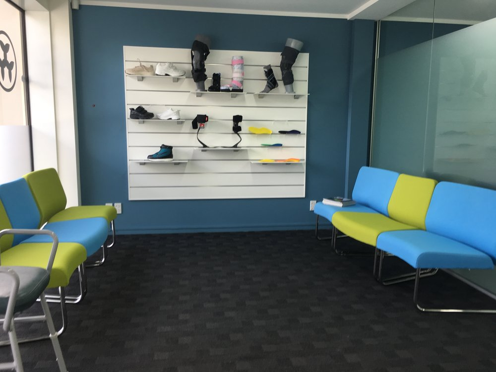 Orthotic Active Products on a Slatwall