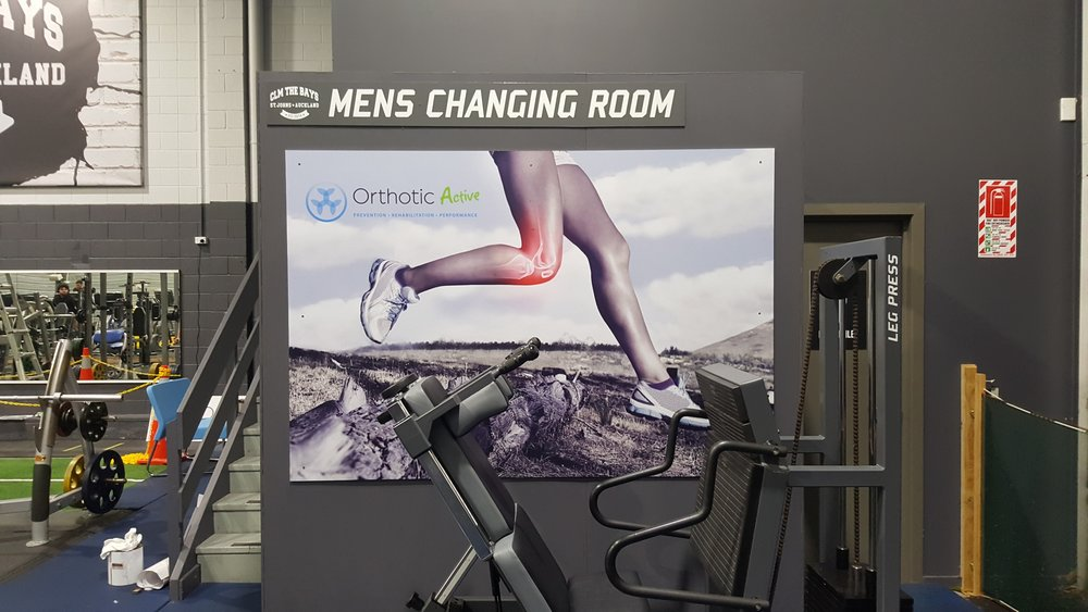 Orthotic Active Gym Signage