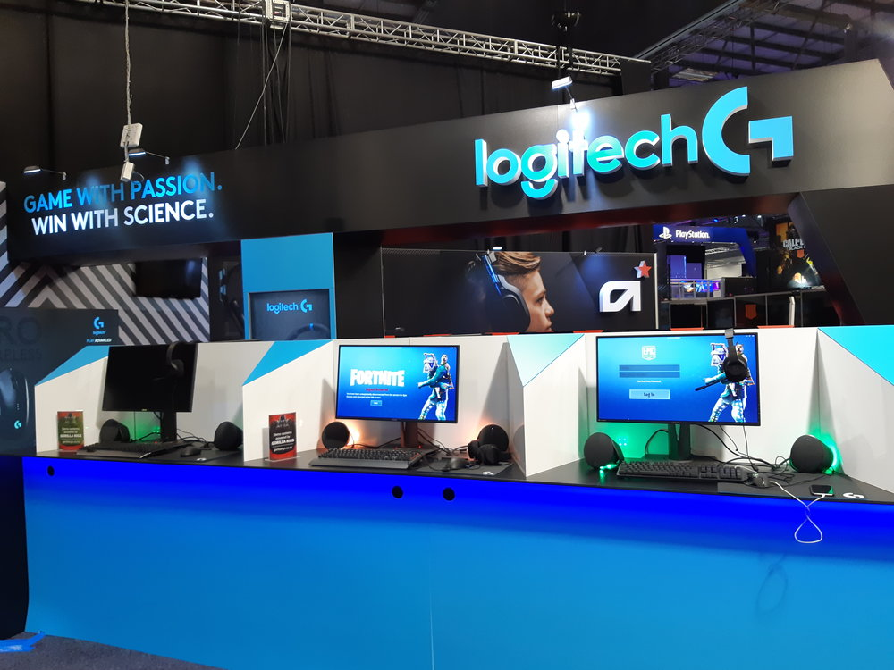 Logitech side of display