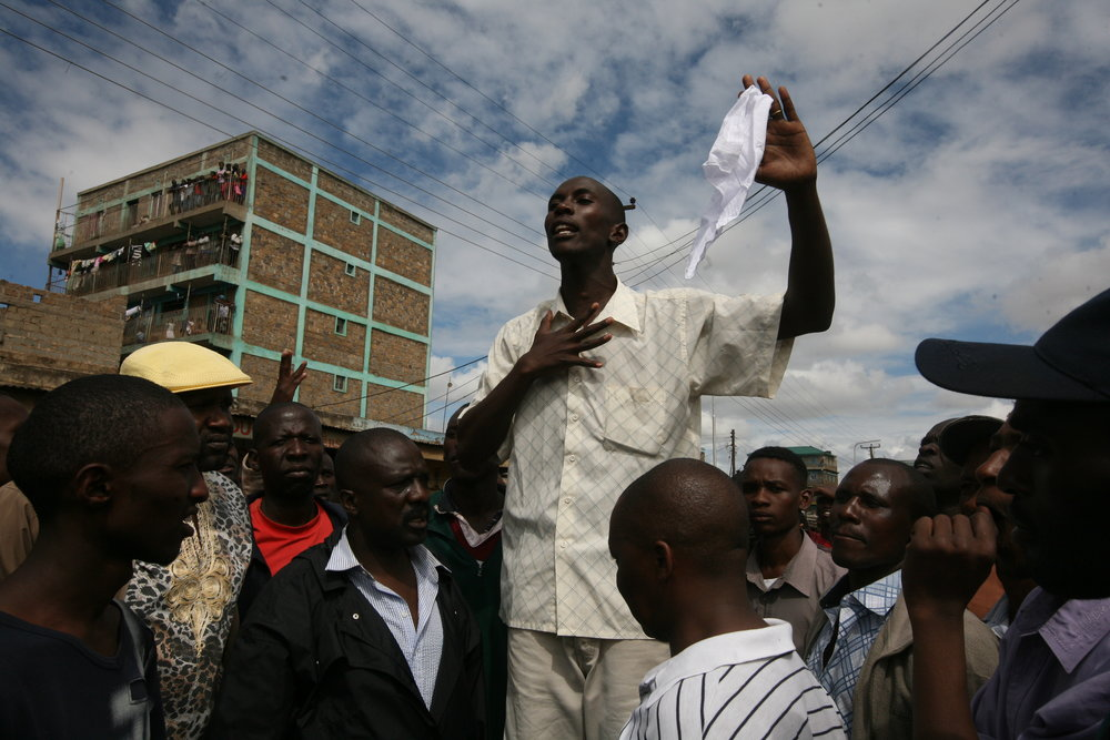 A community leader begs his neighbors to put a stop to the ethnic violence ripping through Kenya.
