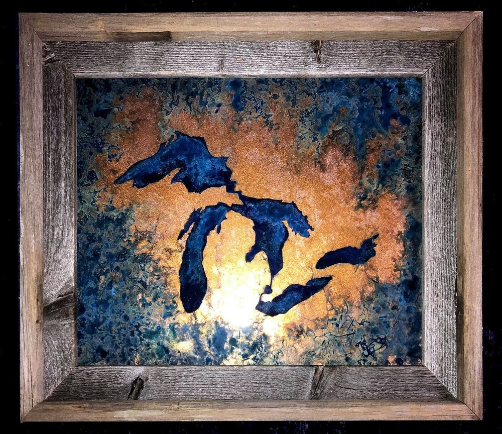 A State of Copper has become a Canvas & Paddle best seller and customer favorite! Add this beautiful piece to your home or cabin and marvel over the detail all over.