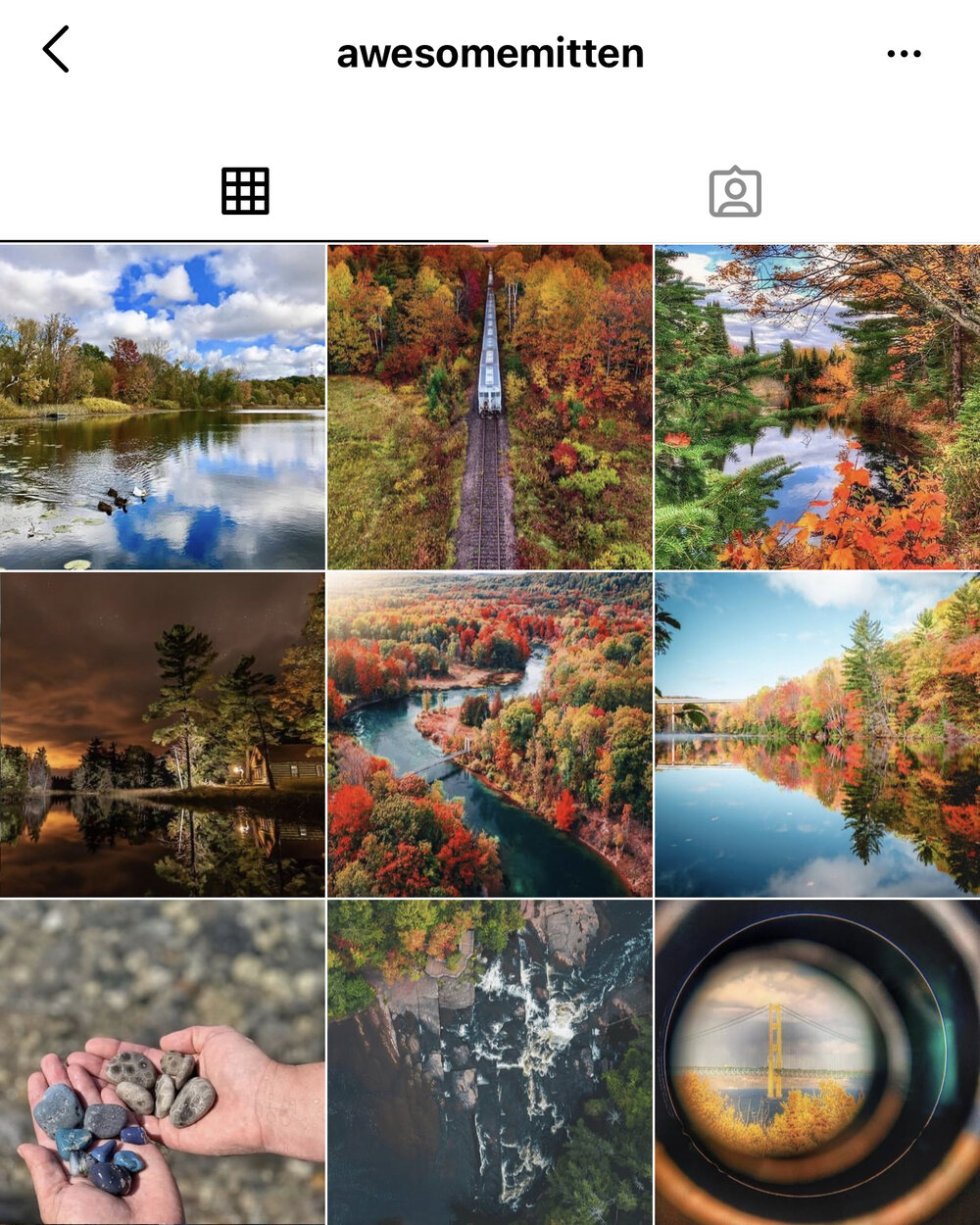 Awesome Mitten:     This curated page shares pictures from hundreds of Instagram users to give you the best of the best of your favorite state.