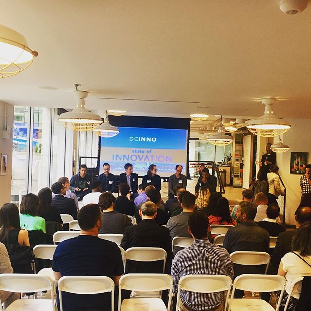 The team loved the @dc_inno sponsored 'State of Innovation' event at @wework tonight!
