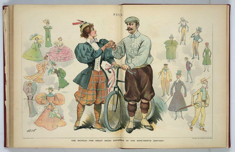 Die neue Technologie Fahrrad macht ein Umdenken in der Mode nötig, es gibt nunmehr spezielle Outfits zum Radeln.
