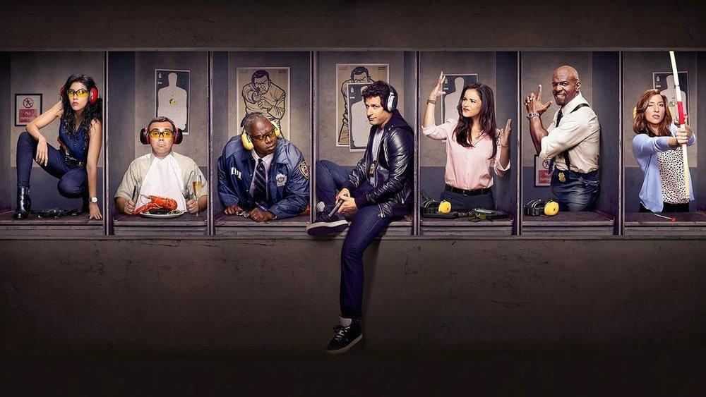Rosa, die Badass-Detektivin / Charles, der Food-Blogger / Holt, der stoische Captain / Jake, der Goldjunge / Amy, die unverhohlene Streberin / Terry, der emotionale Familienvater / Gina, die tanzende Assistentin
