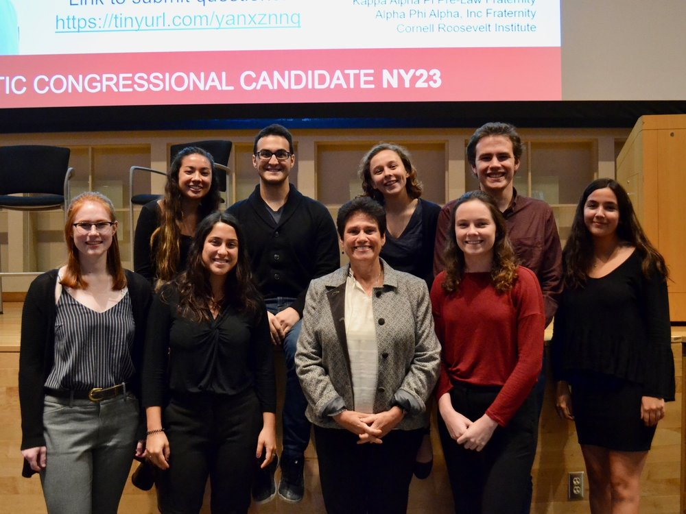 Cornell Democrats 2018-19 E-Board with Tracy Mitrano