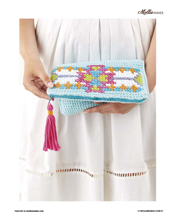 Tunisian Crochet Clutch