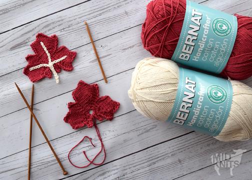 Knit Maple Leaf Applique Midknits