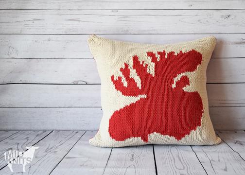 Very A Moose Ing Knit Pillow Midknits