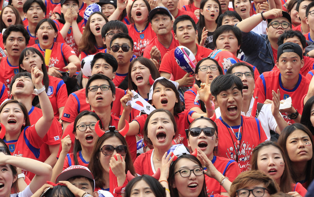 Source: The Korean Times; crowd of South Korean millenials