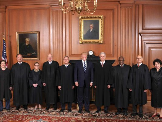 Source: USA Today; Trump with members of the Supreme Court.