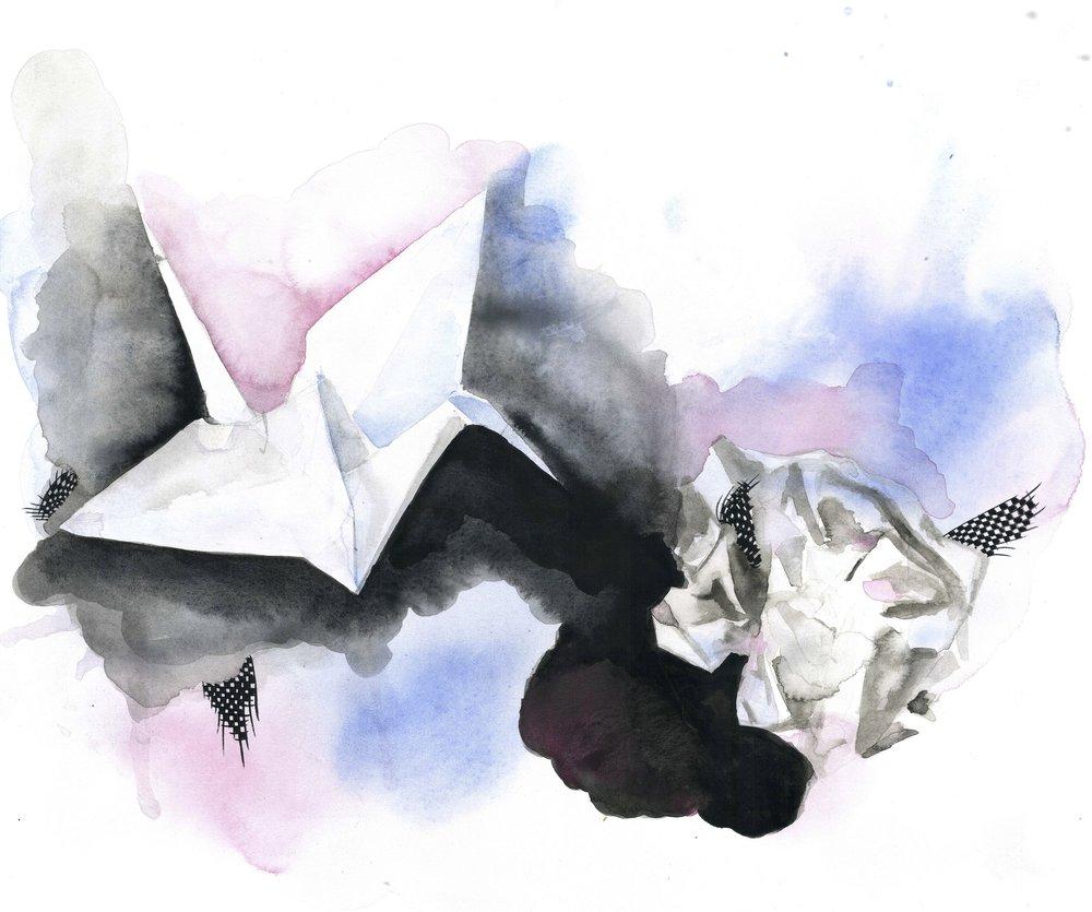 Paper Crane Plane