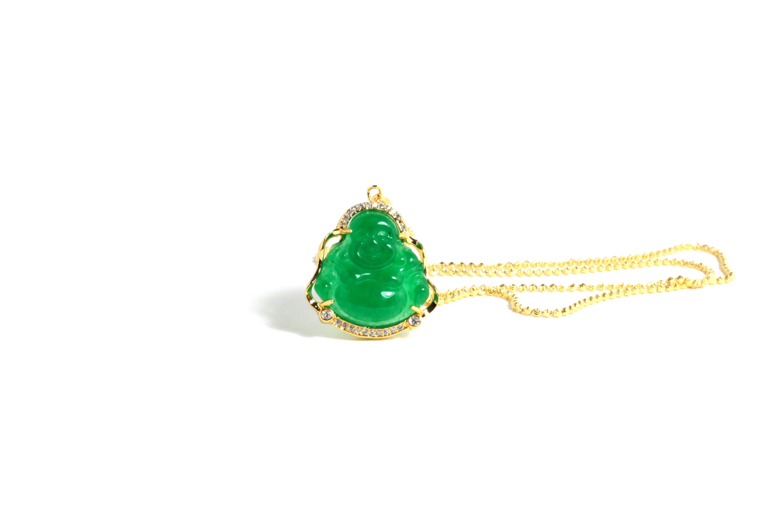Jade buddha with chain dfine lifestyle jade buddha with chain mozeypictures Images