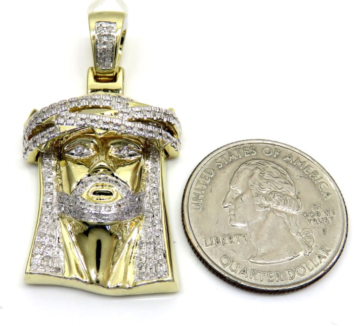10k yellow gold medium jesus piece pendant 090ct dfine lifestyle 10k yellow gold medium jesus piece pendant 090ct mozeypictures Images