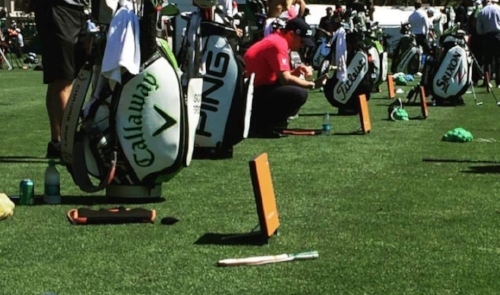 Full turf practice facility with full complement of practice tools to improve your swing.