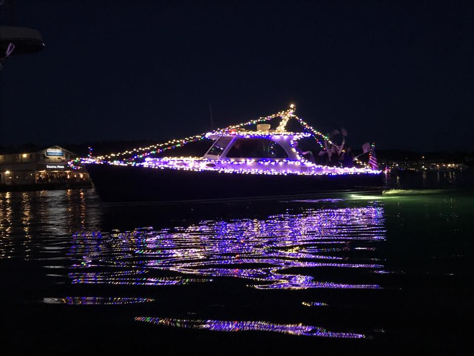 Island mode during the lighted boat parade!