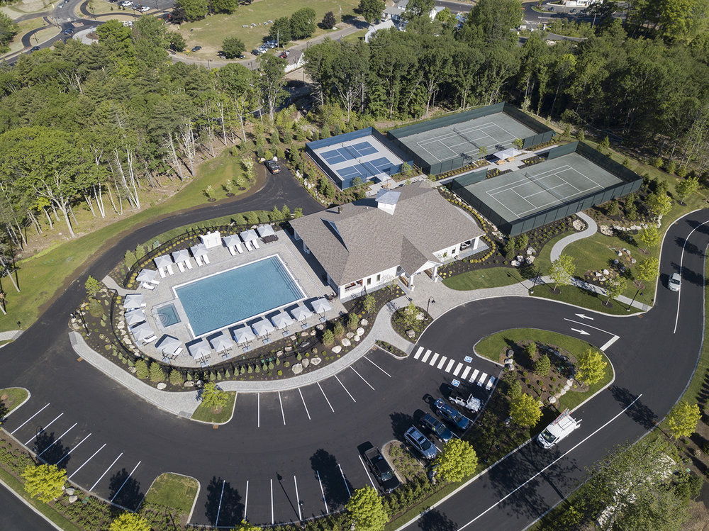 Fitness Pavilion with tennis, pickleball, heated pool and 12-person hot tub.