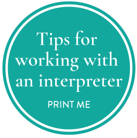 tips for working with an interpreter