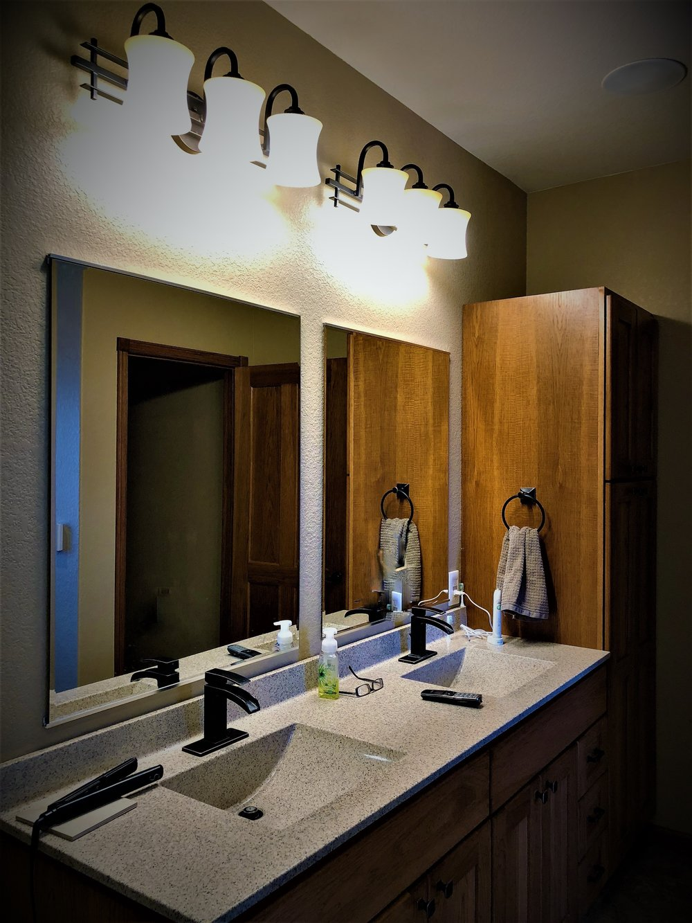 Multi-level Bathroom Lighting