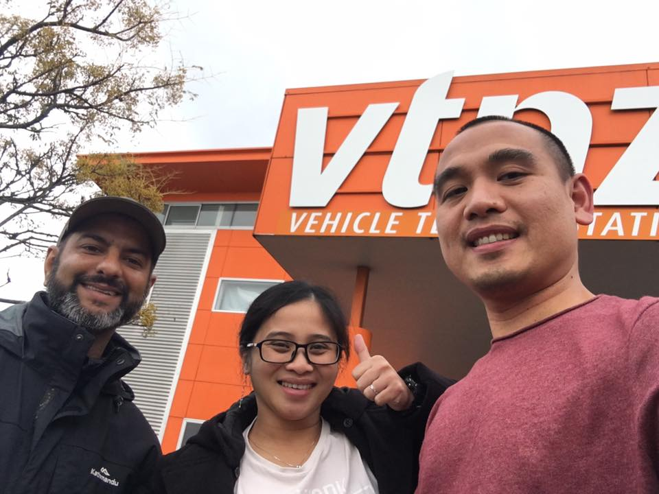 Joel passes his restricted driving test at VTNZ Wiri