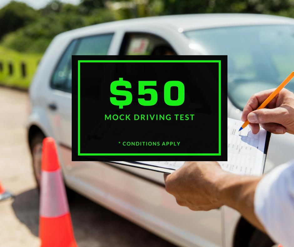 $50 Mock Driving Test