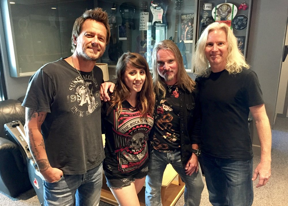 From L to R: Peter Klett, 95 WIIL Rock's Leah, Scott Sneddon, and John Hussey