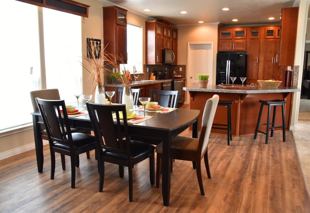 Model home dining room interior design | Pacific Northwest