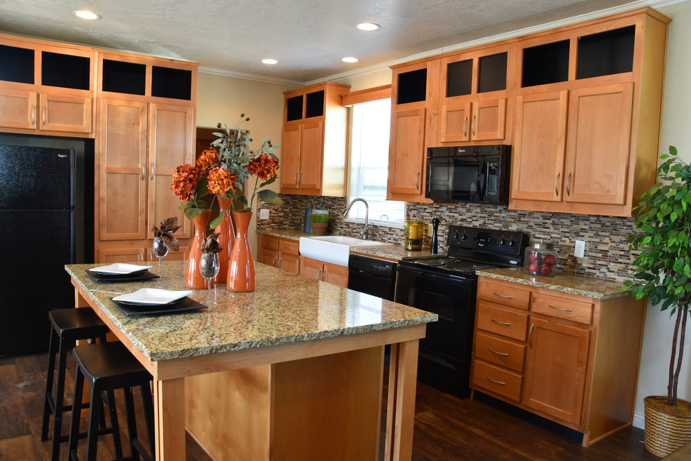 Model Home Kitchen Design with open concept