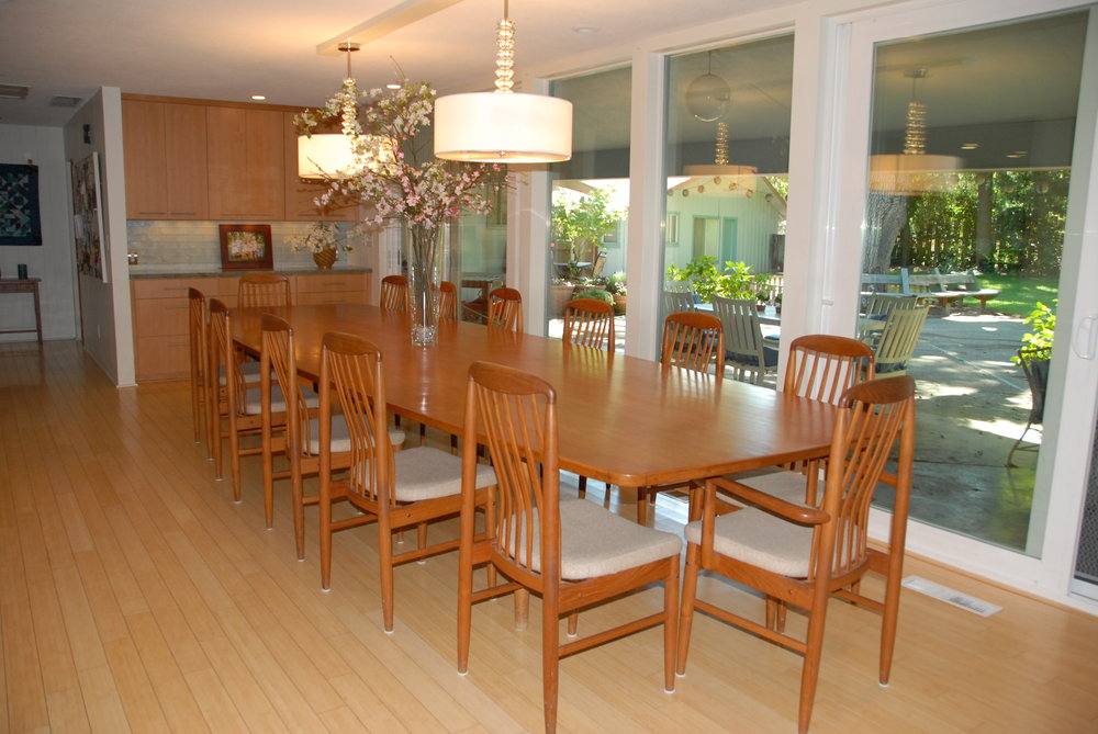 Dining Room Remodel Mid Century Modern Design At Home In Chico, CA 1.