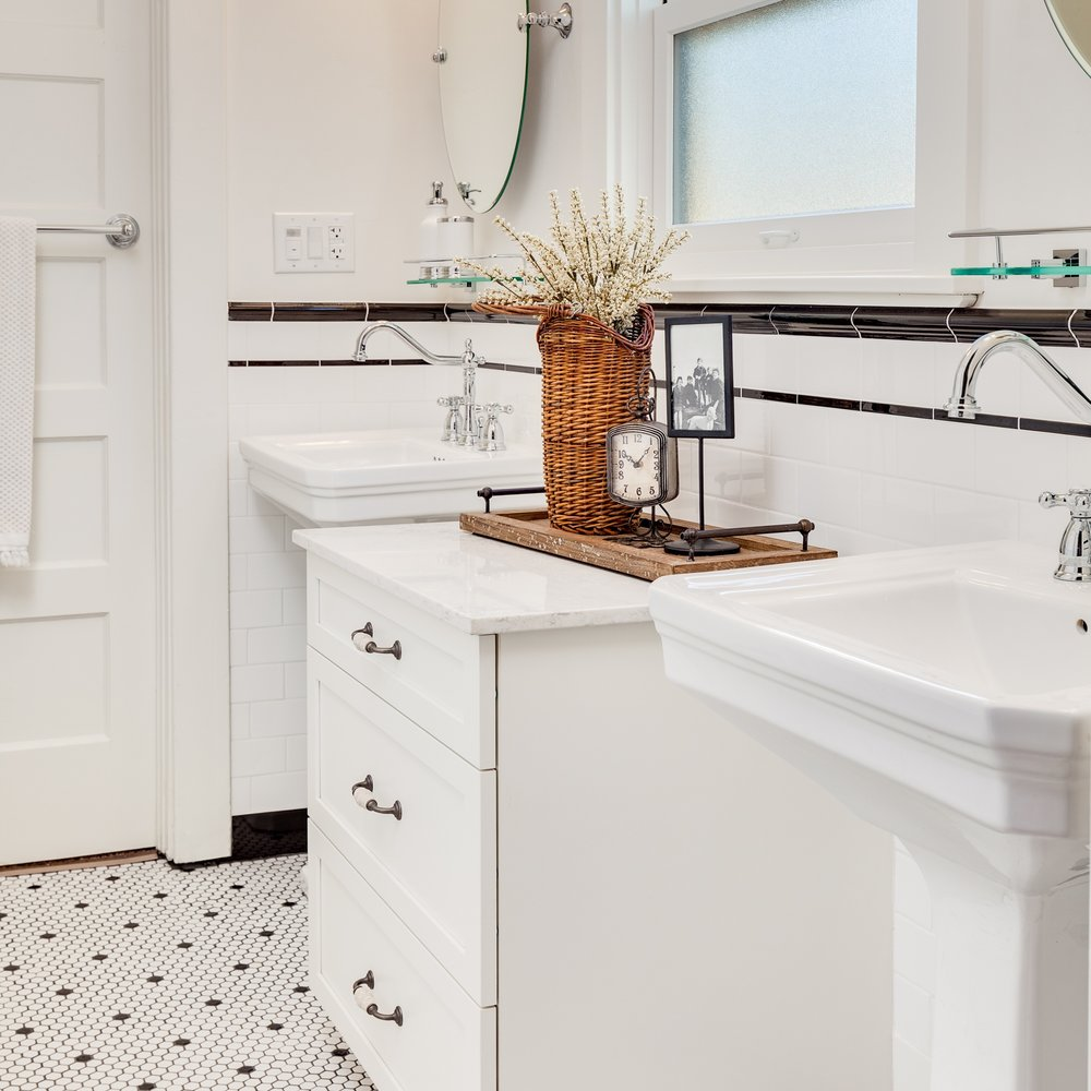 West Frances Willard - 1920's style bathroom restoration